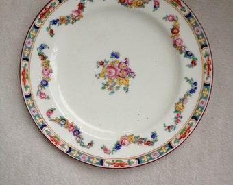 Vintage Mintons Minton Rose Fine China Porcelain Plate Floral Bouquet Garland Swags