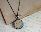 Lace Jewelry Soldered Glass Pendant
