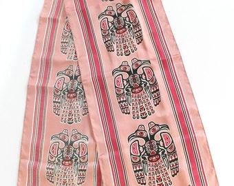 Vintage Tony Paine Scarf SKEMO Textiles Canada Inuit Pacific Northwest Design