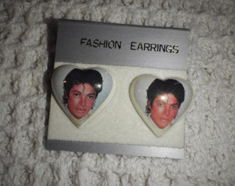 Vintage Michael Jackson Earrings With Thriller Picture Of Michael