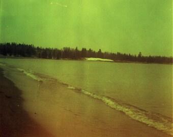 Northern Beach Days Original Brownie Hawkeye Film Photo - Cross Processed Slide Film Photo