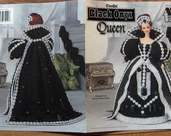 1998 Crochet pattern Fashion Doll Clothes BLACK ONYX QUEEN
