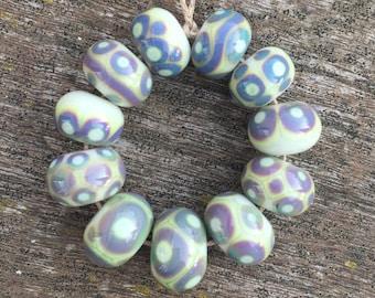11 handmade lampwork beads (4)