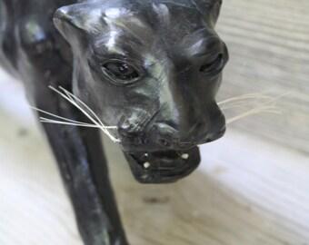 Beautiful Paper Mache Black Panther