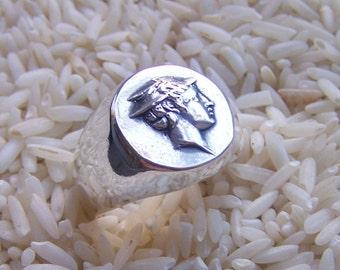 Hermes/Mercury Mans or Ladies Ring