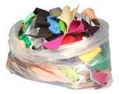 Acrylic Craft Felt Grab Bag - 1 Pound of Felt, Assorted Colours and Piece Sizes, Felt Scrap Bag