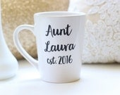 New Aunt Gift Personalized Mug Baby Shower Present Christmas Gift (NVMHDAY0835)