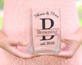 Personalized Glass Vase Wedding Gift Bridal Shower Bridesmaid Gifts Custom Made #NVMHDA1478