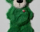 Mini primary green Tear Bear paper piecing for scrapbooking
