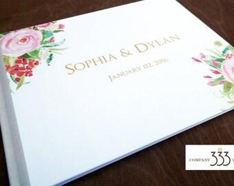 GUEST BOOK - Gold Wedding Guest Book - Personalized Guest Books -  Custom Guestbook Modern Wedding Keepsakes Bat Mitzvah Sign in books