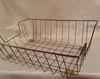 Vintage Wire File Basket
