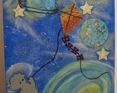 Galaxy Child mixed media art original outer space