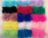 A Pair of Marabou Feather Puff Hair Clips With No-Slip Grips: 15 Colors to Choose From