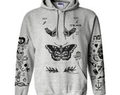 Larry Stylinson Tattoo Hoodies Sweatshirt Women Sweater Jumper Pullover Grey Shirt