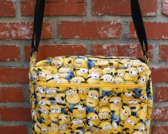 New - Custom large padded tote Once in a Minion made to order