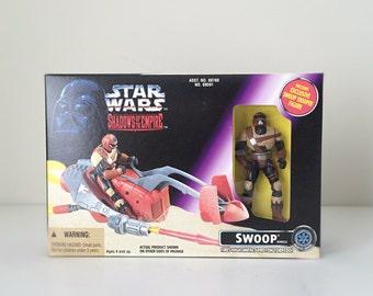 Star Wars Christmas Gift for Kids, Vintage Star Wars Kids Toy, Swoop Speeder Bike with Action Figure, Gift for Star Wars Lover