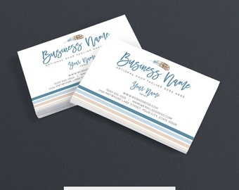 30% OFF SALE Business Card Designs - Feather Business Card - Boho Business Card- Printable Business Card Design - Premade - Feather 1-16