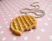 Eleven, Stranger Things, Inspired Waffle Necklace, Key Chain, Pendant, Miniature Food Jewelry, Large