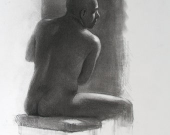 Charcoal Figure - original drawing (FD 90)
