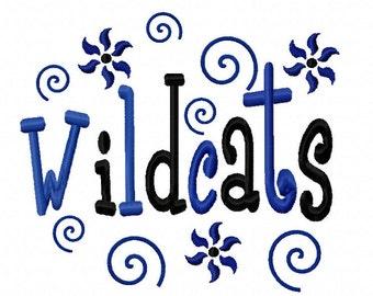 Wildcats Applique Machine Embroidery Design 4x4 5x7 7x5 10x6 Kentucky Team Instant Download Basketball Football Baseball Softball Sports