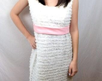 Vintage 60s 1960s Vintage Lace Maxi Bridesmaid Formal Wedding Gown Dress