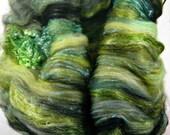 Leaping Lizards Wild Card Bling Batt for spinning and felting (4.4 ounces), batt, art batt