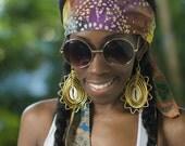 Studs and Sequence-- Bali Batik Reversible Hippie Headband