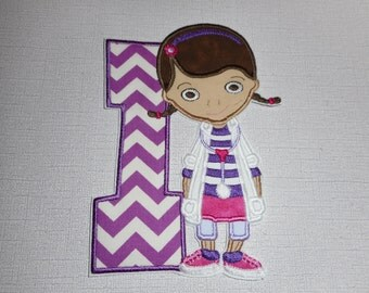 Free Shipping Number 1 Princess Fabric iron on applique