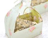 Set of 5 Shabby Chic Favor Boxes, Shabby Chic Easter Baskets, Shabby Chic Place Setting Treat Boxes, Place Setting Easter Baskets