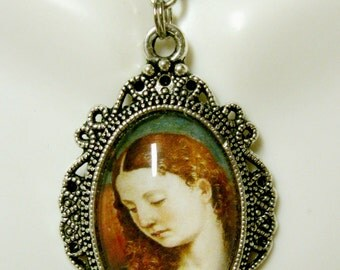 Archangel Gabriel pendant with chain - AP04-167