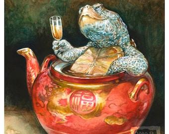 Teapot Terrapin (print) turtle art