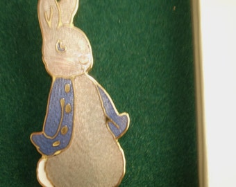 Beatrix Potter 100 Yr Rabbit Animal Brooch KL Design