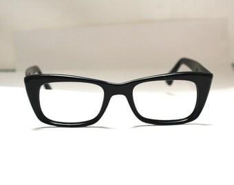 Vintage 1950s Frames // 50s 60s Black Eyeglass Frames // Mad Men Glasses // RH001