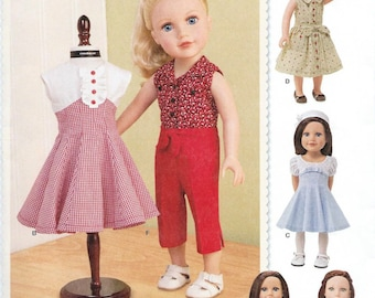 "18"" Doll Clothes Pattern by Simplicity #1086, Brand new and uncut"