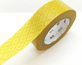 Japanese Mustard Yellow Pattern Washi Tape Masking Tape Pretty Tape
