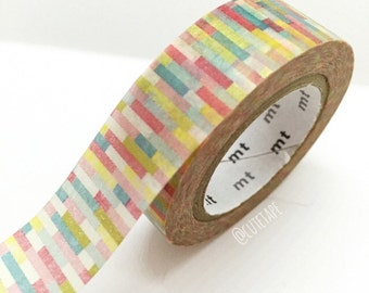 Japanese colorful Washi Tape Masking Tape yellow red teal green Pretty Tape
