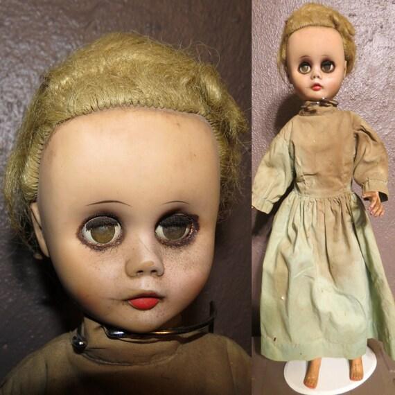 Vintage Creepy Old Doll Halloween Decoration Haunted House