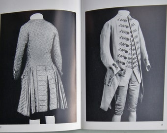 Men's Costume 1750-1800 London Museum Zillah Halls - history of textiles clothing dress - vintage book booklet - embroidered textiles