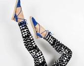 Mountain Leggings - Hand Printed - Organic Cotton Leggings - High Waisted Leggings - Thief and Bandit®