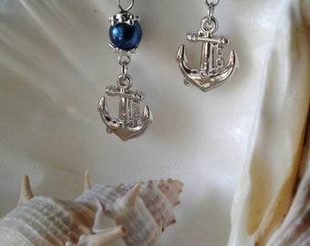 Nautical Earrings,Dangle Earrings,Beach Wear,Anchor,Sailor Earrings,Tropical Decor,Anchor Earrings,Nautical Jewelry, Anchor ,Military Wife