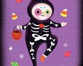 Halloween Postcards (set of 12 • 3 each of 4 designs)