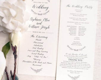 Printable Wedding Program | Ceremony program  | Double Sided Programs - GARDEN COLLECTION - Style P50
