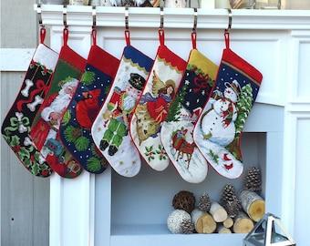 Remarkable Needlepoint Stocking Etsy Easy Diy Christmas Decorations Tissureus