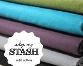 Shop my Stash - Solid Cotton, S M L X