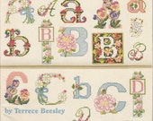 The Ultimate Flower Alphabet Book Counted Cross Stitch Pattern Charts #3660