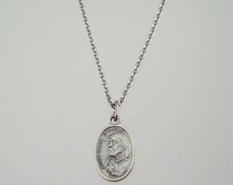 Mother Teresa Medal Necklace