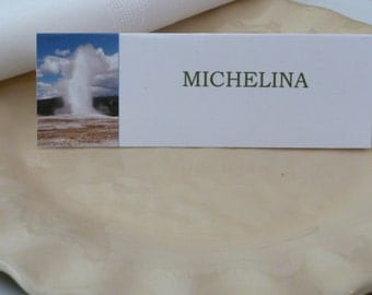 Old Faithful -  Place Cards/ Name Cards/ Food Tents-Set of 6- Dinner Party Table Decoration