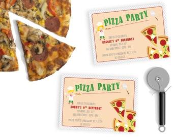 Birthday Pizza Party Invitation - Boy or Girl - DEPOSIT