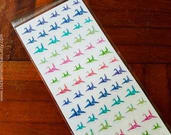 ORIGAMI Crane stickers, Bird stickers, Origami stickers, Japanese stickers, Paper Crane stickers, Cardlover sticker