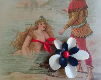 MERMAID Antique Victorian Fairytale Illustration Picture Yellow Dwarf